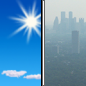 Sunday: Widespread haze after noon. Sunny, with a high near 63. Southwest wind 7 to 14 mph.