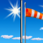 Today: Sunny, with a high near 82. Breezy, with a west wind 10 to 15 mph increasing to 19 to 24 mph in the afternoon. Winds could gust as high as 33 mph.