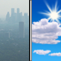Wednesday: Widespread haze before 11am. Areas of smoke before 11am. Mostly sunny, with a high near 73.