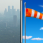 Wednesday: Widespread haze before noon. Areas of smoke before noon. Sunny, with a high near 76. Breezy.