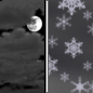 Sunday Night: A chance of snow showers after 3am.  Mostly cloudy, with a low around 2.