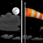 Sunday Night: Mostly clear, with a low around 36. Breezy, with a southwest wind 10 to 20 mph, with gusts as high as 30 mph.