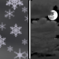 A chance of snow showers before midnight.  Mostly cloudy, with a low around 27.