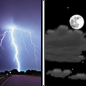 Thursday Night: A chance of showers and thunderstorms before midnight.  Mostly cloudy, with a low around 57.