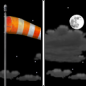Monday Night: Partly cloudy, with a low around 44. Breezy, with a southwest wind 15 to 20 mph, with gusts as high as 30 mph.