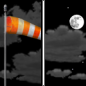 Tonight: Increasing clouds, with a low around 38. Breezy, with a west northwest wind 21 to 26 mph becoming light and variable  after midnight. Winds could gust as high as 37 mph.