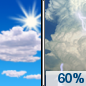 Friday: Showers and thunderstorms likely, mainly after 3pm.  Increasing clouds, with a high near 84. Southwest wind 11 to 17 mph, with gusts as high as 28 mph.  Chance of precipitation is 60%. New rainfall amounts between a tenth and quarter of an inch, except higher amounts possible in thunderstorms.