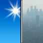 Saturday: Widespread haze after 1pm. Sunny, with a high near 29. Calm wind.