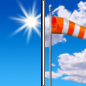 Thursday: Sunny, with a high near 76. Breezy, with a west southwest wind 13 to 18 mph increasing to 19 to 24 mph in the afternoon. Winds could gust as high as 38 mph.