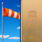 Thursday: Areas of blowing dust after noon. Sunny, with a high near 78. Windy, with a west southwest wind 10 to 20 mph increasing to 20 to 30 mph. Winds could gust as high as 45 mph.