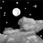 Partly cloudy, with a low around 43. South southeast wind 5 to 10 mph, with gusts as high as 16 mph.