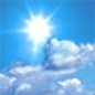 Mostly sunny, with a high near 50.