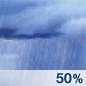 Heavy Rain Chance for Measurable Precipitation 50%