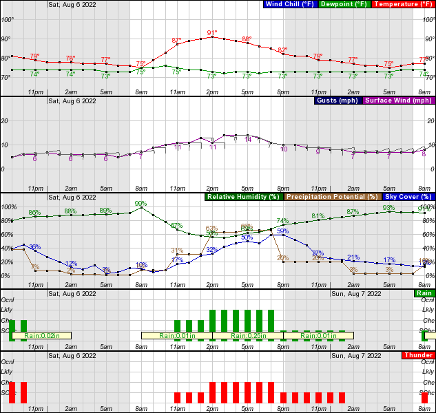 Charlotte County Weather - Port Charlotte Hourly Forecast