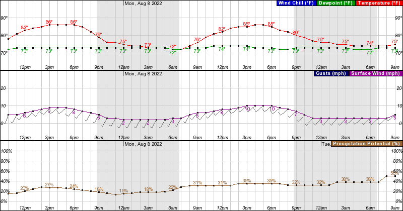 Hourly Forecast Graph