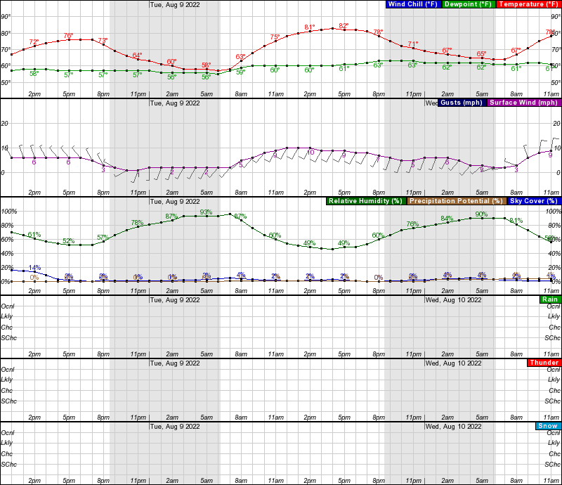 hourly graphical forecast