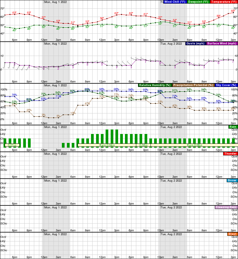Ruby Hourly Weather Forecast Graph