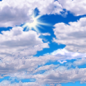 This Afternoon: Partly sunny, with a high near 77. North wind around 10 mph.