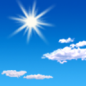 Sunday: Sunny, with a high near 34. South southeast wind 8 to 14 km/h.