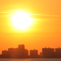Today: Sunny and hot, with a high near 99. Heat index values as high as 102. South wind 5 to 15 mph.