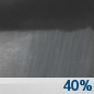 Wednesday Night: A 40 percent chance of showers after 8pm.  Mostly cloudy, with a low around 56.