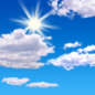 Today: Mostly sunny, with a high near 25. South wind around 6 mph becoming calm  in the afternoon.