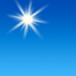 Today: Sunny, with a high near 72. Calm wind becoming west northwest 5 to 7 mph in the afternoon.