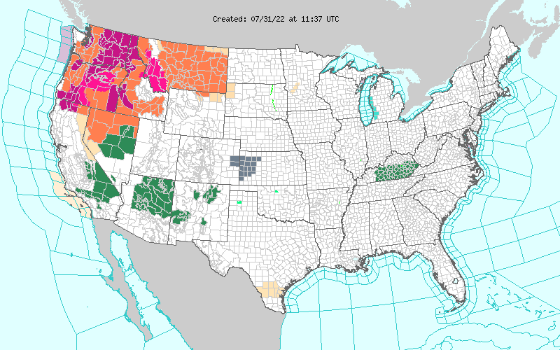 Weather Hazards Map