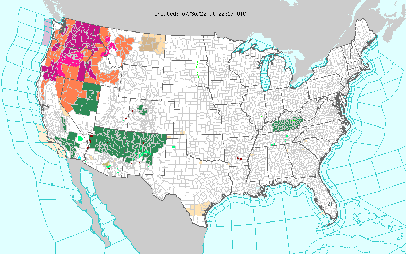 Traditional Weather Map.National Weather Service
