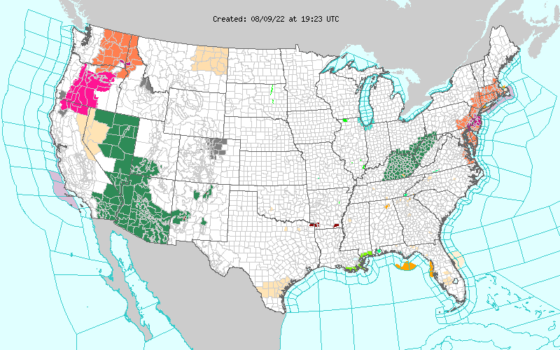 National Weather Service map.