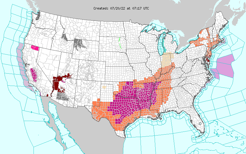 US Weather Advisories