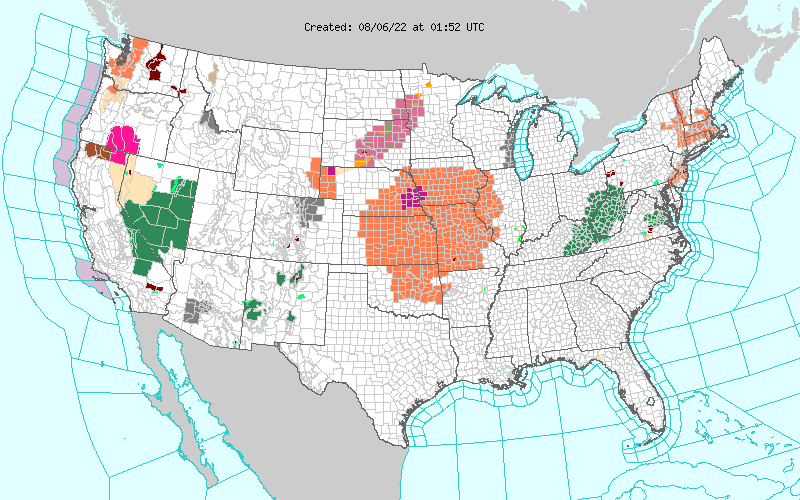 Watches, Warnings, and Advisories