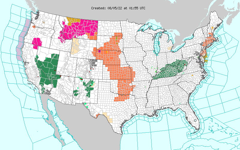 NWS Watch/Warning Map