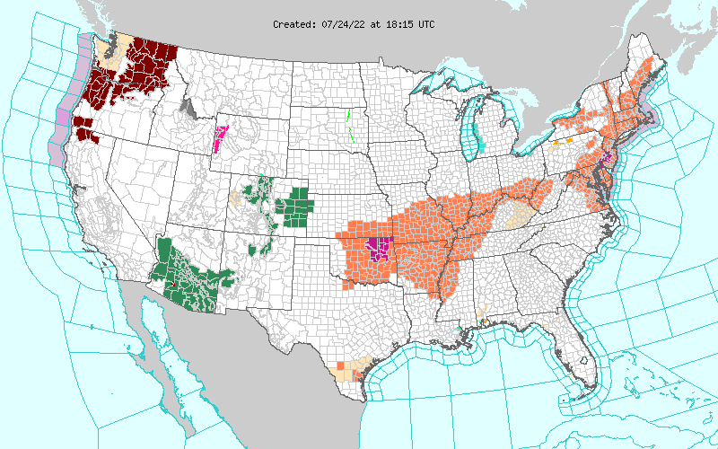 U.S. NWS Watches & /Warnings