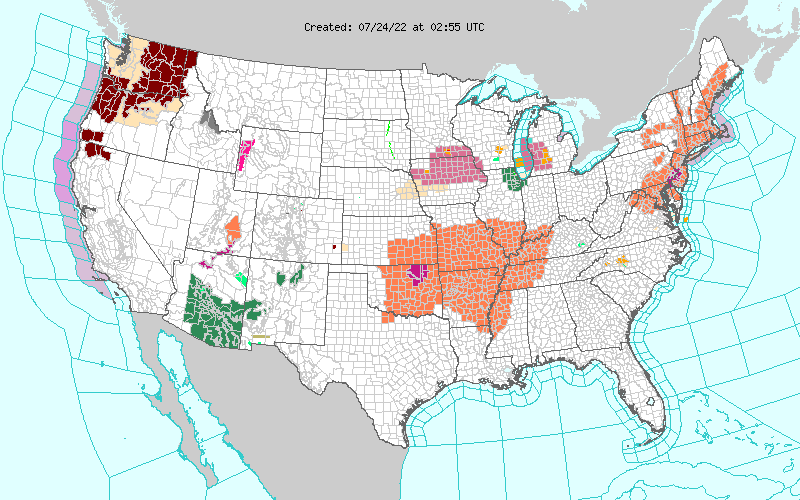 Current NWS Watches & Warnings