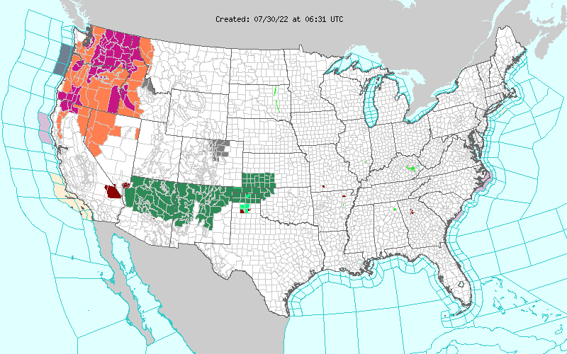Watches, Warning, & Advisories