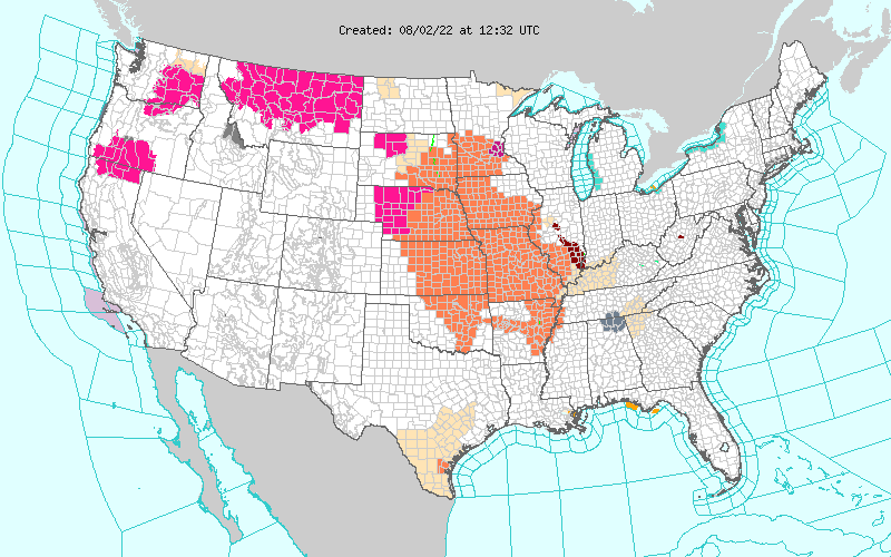 Weather Warnings Map of the United States