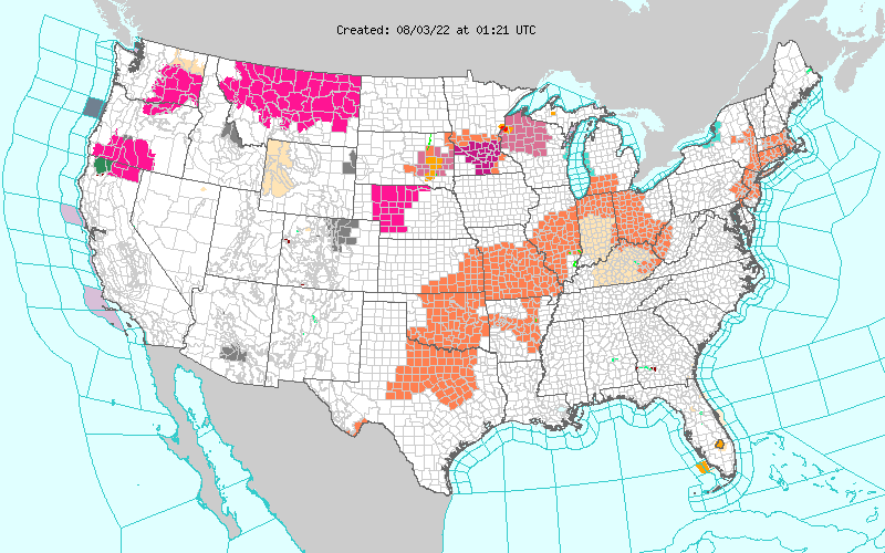 Current Watches/Warnings In Effect
