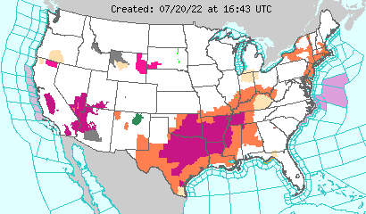Realtime Map of US Hazards